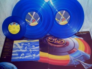 Blue vinyl Out of the Blue